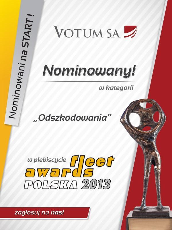 VOTUM S.A. w plebiscycie Fleet Awards Polska 2013