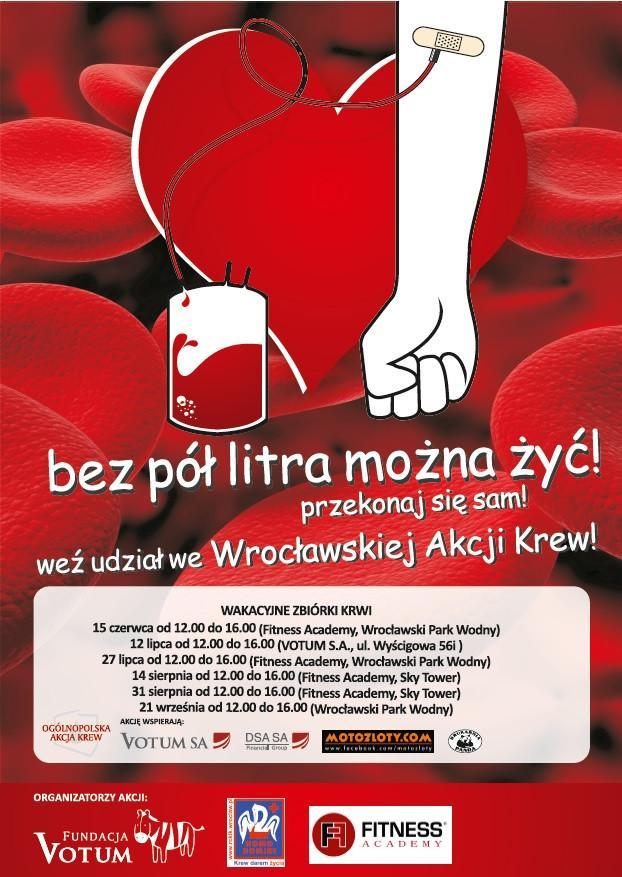 akcja krew plakat