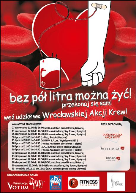 plakat akcja krew z 2014