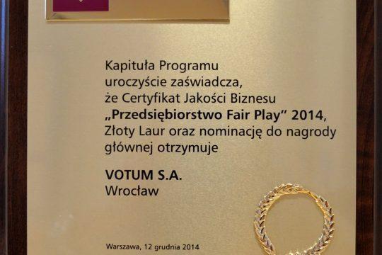 votum fair play 2014