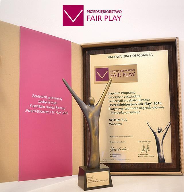 Przyznano tytuły Przedsiębiorstwo Fair Play 2015