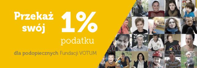Przekaż 1% dla podopiecznych Fundacji Votum