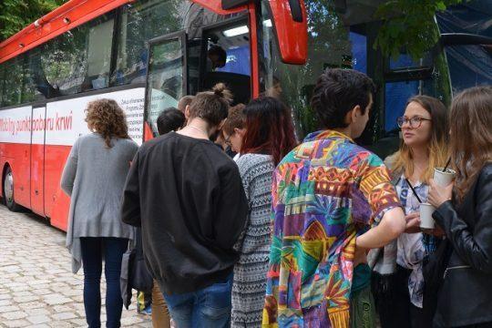 Akcja Krew na Slot Art Festival