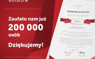 200 tys. klient votum sa