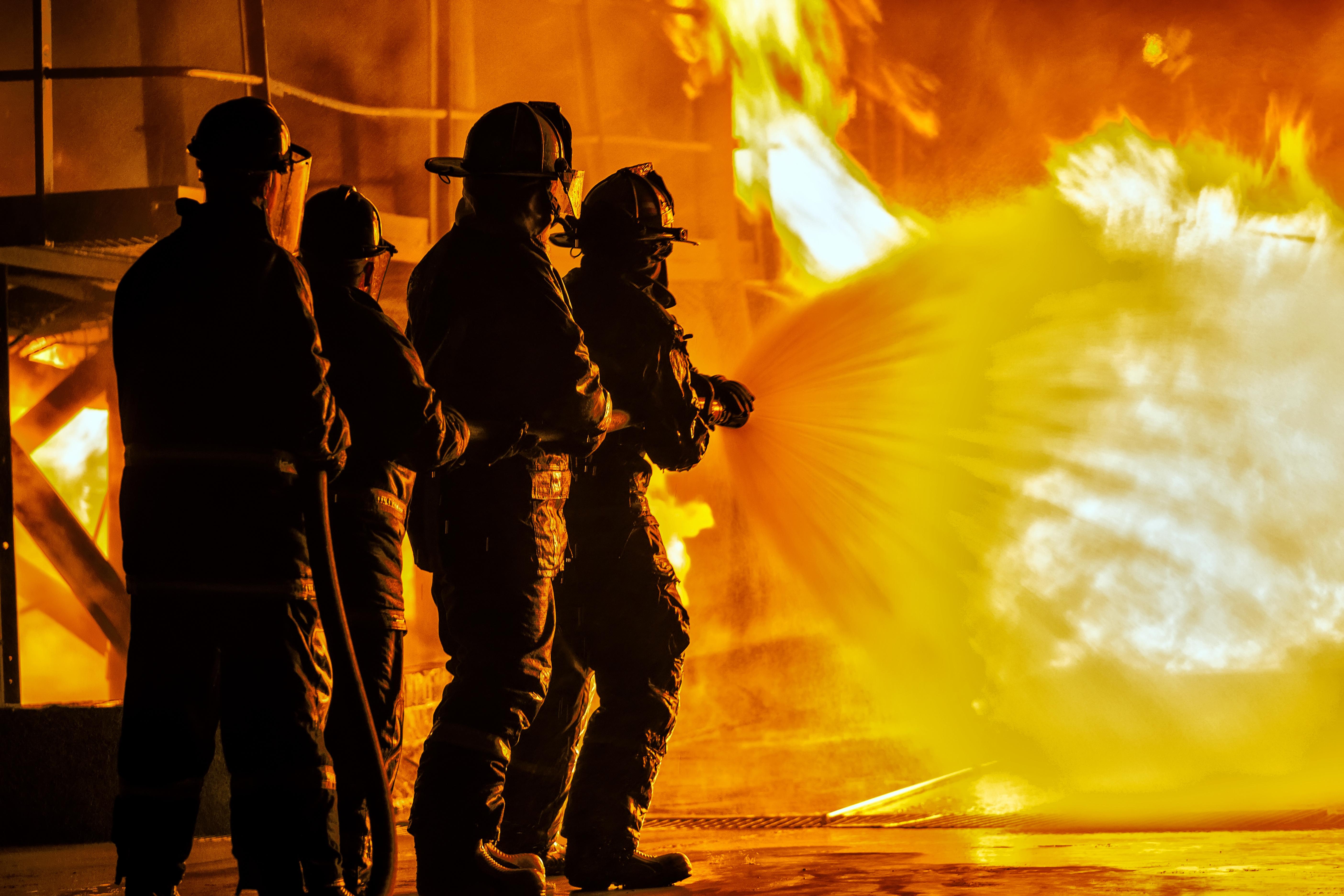 Pożar w gospodarstwie rolnym