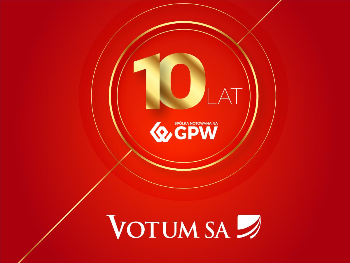 Świętujemy 10 lat obecności na GPW!
